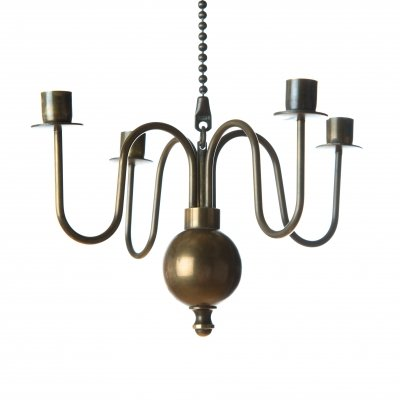Copper candle pendant by Gunnar Ander for Ystad Metall, 1950s