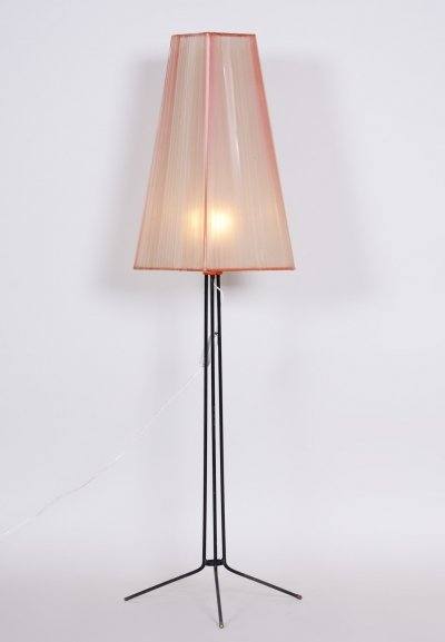 Czech Mid-century Metal Floor Lamp, 1950s