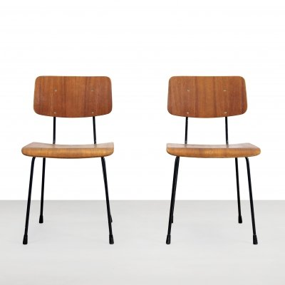 Set of two dining chairs by André Cordemeyer for Gispen