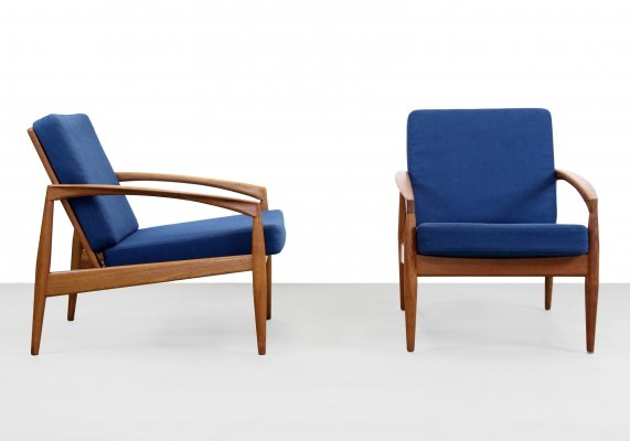 2 x Paper Knife arm chair by Kai Kristiansen for Magnus Olesen, 1960s
