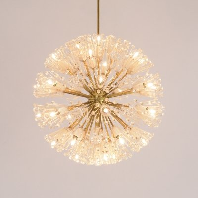 Large Dandelion Chandelier by Emil Stejnar for Rupert Nikoll