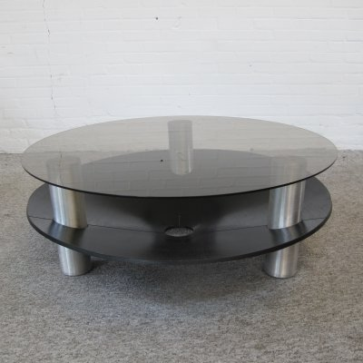 Vintage round space age coffee table, 1960s