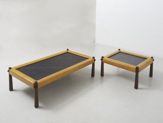 Set of Brazilian low tables by Percival Lafer, Brazil 1960's