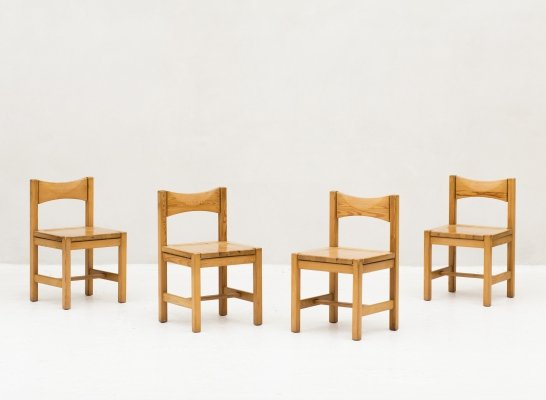 Set of 4 dining chairs 'Hongisto' by Ilmari Tapiovaara for Laukaan Puu, Finland