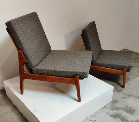 Danish pair of Erik Buch easy chairs, 1960s