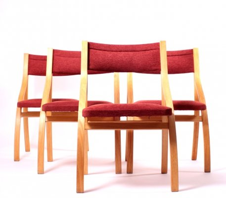 Set of 4 Dining Chairs by Ludvík Volák for Dřevopodnik Holešov, 1960s
