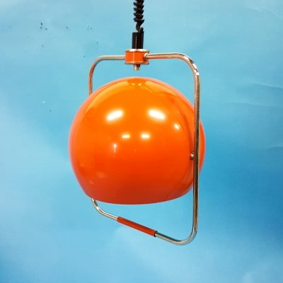 Space age rise & fall pendant lamp by Gepo, Netherlands 1960s