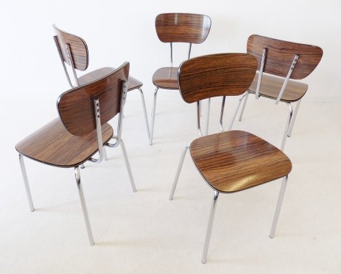 Set of 5 Resopal kitchen chairs, 1960s