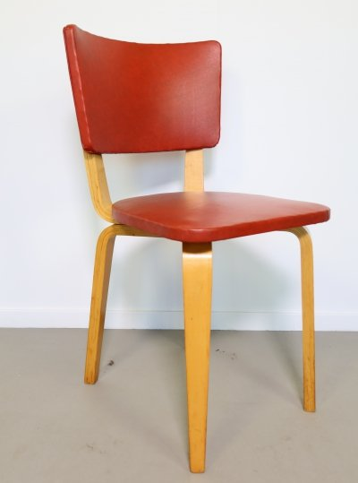 Birchwood Cor Alons dining chair with skai upholstery, 1950s