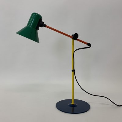 Post modern Veneta Lumi Italy desk lamp, 1980's