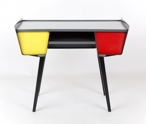 Metal Desk with coloured drawers, 1940s