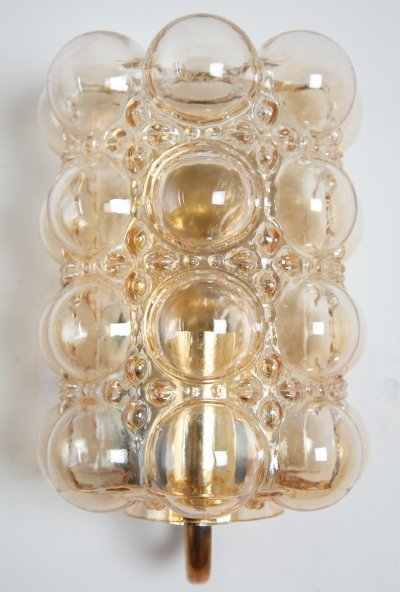 Helena Tynell bubble wall lamp with brass frame