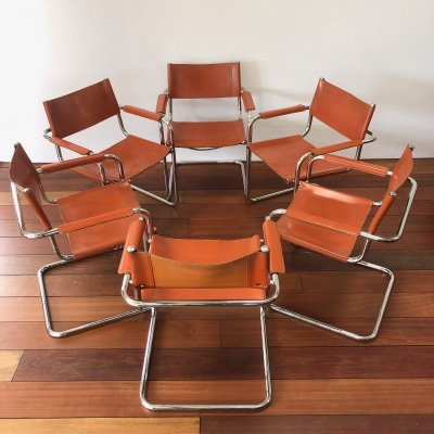 Set of 6 Marcel Breuer vintage dining chairs MG5 / B34 by Matteo Grassi / Thonet