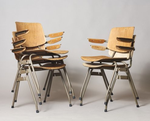 Set of 5 Model 315 arm chairs by Kho Liang Ie for CAR Katwijk, 1950s