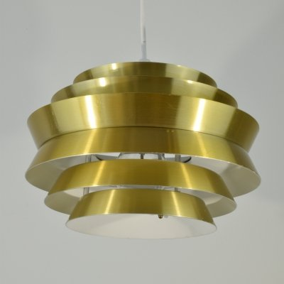 Carl Thore 'Trava' aluminum Pendant light, 1960's