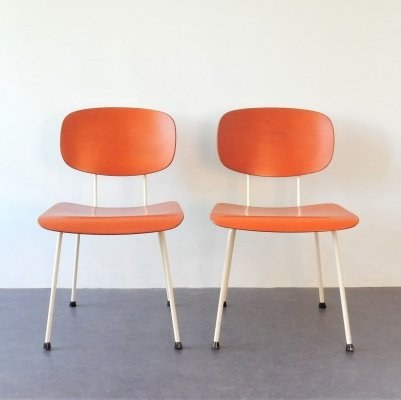 Set of 2 '116' chairs by Wim Rietveld for Gispen, The Netherlands 1950's