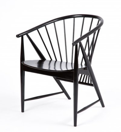 Sonna Rosen Swedish Sunbeam chair in black, 1950s