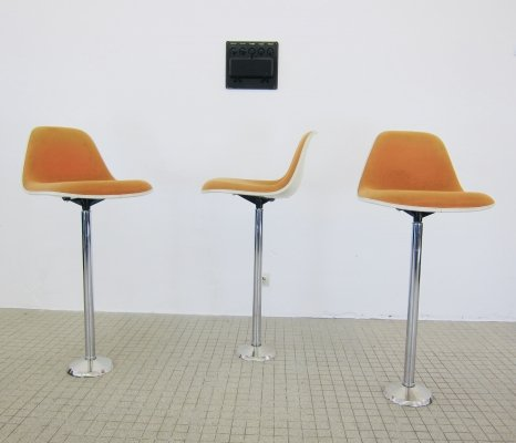 Herman Miller 'La Fonda' barstools with MPB-C swivel base, 1980s
