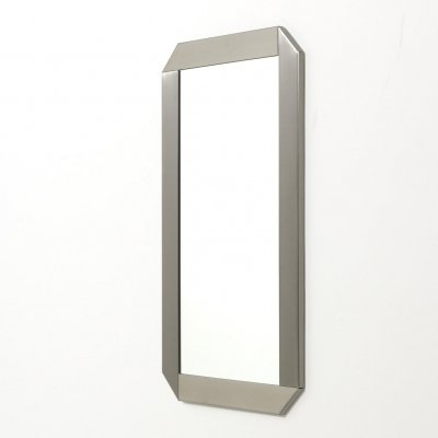 Mirror in stainless steel, 1970's