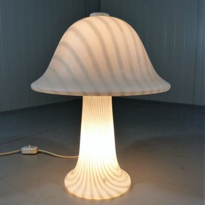 Glass Mushroom Table Lamp by Peill & Putzler