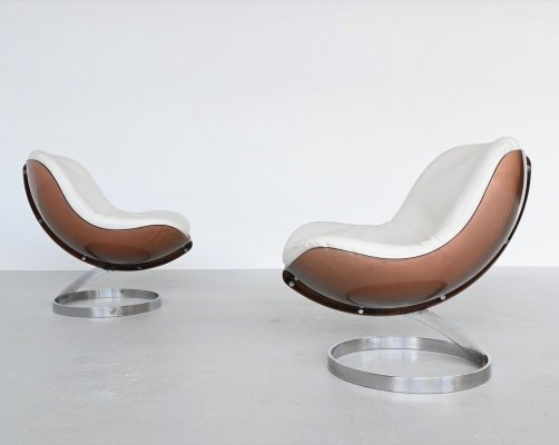 Boris Tabacoff Sphere lounge chairs by Mobilier Modulair Moderne, France 1971