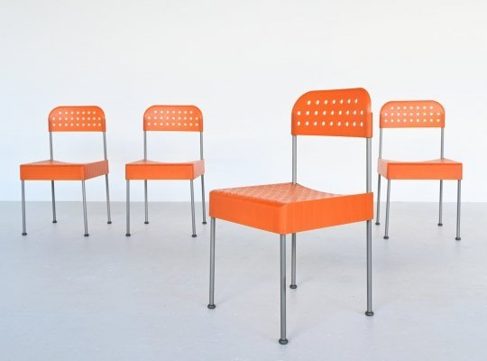 Enzo Mari Box chairs by Aleph Atlantide Driade, Italy 1970