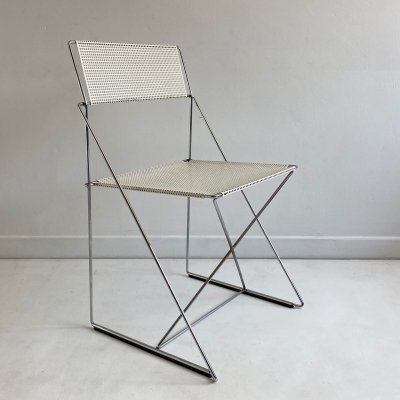 Postmodern White 'X-Line' Stacking Chair by Niels Jørgen Haugesen, c.1970