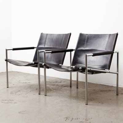 Martin Visser Pair of SZ02 Easy Chairs for 't Spectrum, 1965