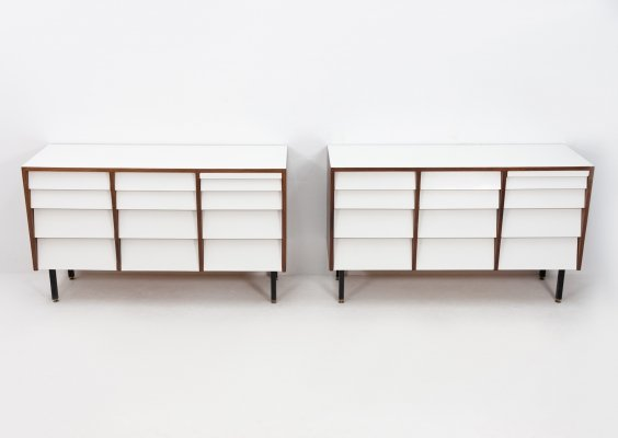 2 x vintage chest of drawers, 1950s