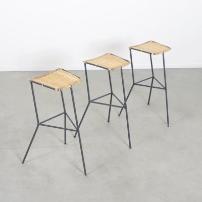Minimalist Bar Stools by Ernest Race, 1950s