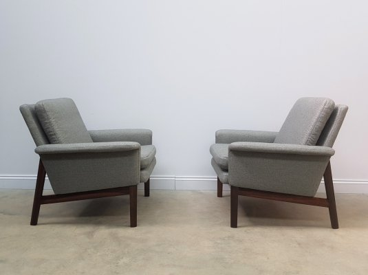 Set of 2 Finn Juhl Jupiter Armchairs for France & Son, Denmark 1960