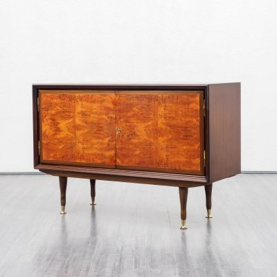 Mid-Century 1960s sideboard in mahogany & root wood