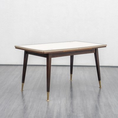 Classic height-adjustable & extendable dining table, 1950s