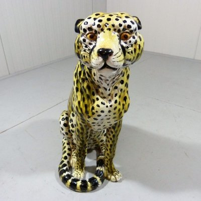 Large terracotta Cheetah, Italy 1960s
