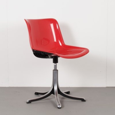 Modus Swivel Chair by Oswaldo Borsani for Tecno, Italy 1970s