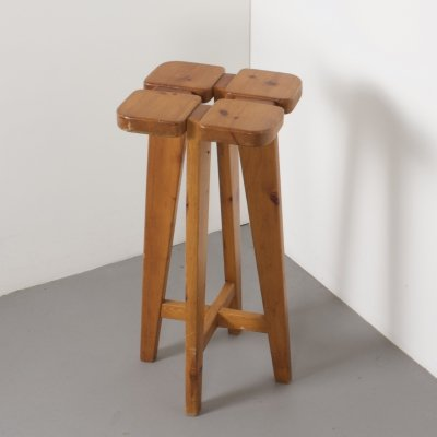 Pine Bar Stool by Rauni Peippoallery for Stockmann-Orne, Finland 1960s