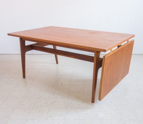 Drop leaf table / desk in teak, 1960s