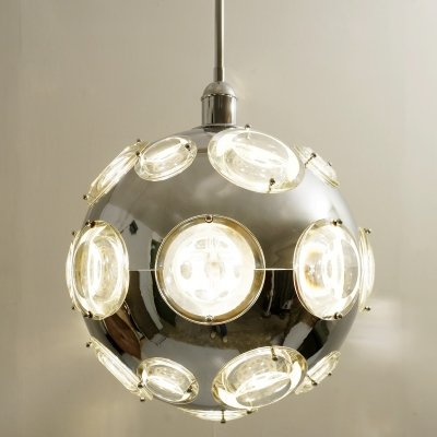 Space Age Globe Hanging Lamp by Oscar Torlasco for Stilkronen, 1960s