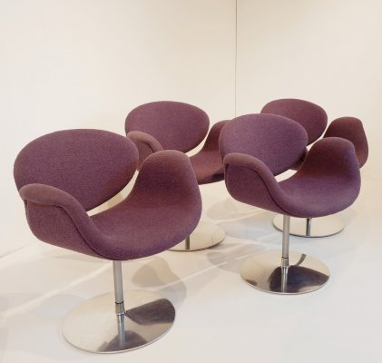 Set of 4 Little Tulip Chairs by Pierre Paulin for Artifort, 1970