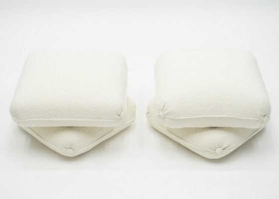 Pair of ottoman poufs by Jancques Charpentier for Maison Jansen, 1970s
