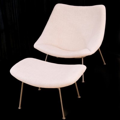 1st edition production 'Oyster' F157 lounge chair & Ottoman by Pierre Paulin