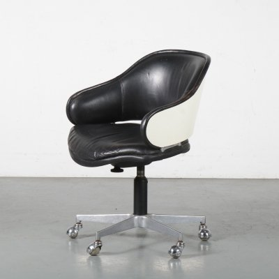 1960s Swivel desk chair by Geoffrey Harcourt for Artifort, Netherlands