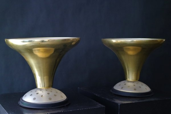 Pair of Art Deco 'uplighter' table lamps, ca 1920
