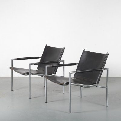 Pair of Martin Visser easy chairs for 't Spectrum, the Netherlands 1960s