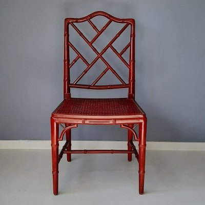 Faux Bamboo Chippendale Chair, 1980s