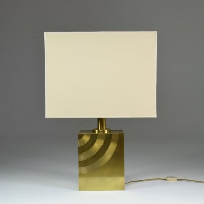 20th Century Vintage Italian Brass Table Lamp, 1970's