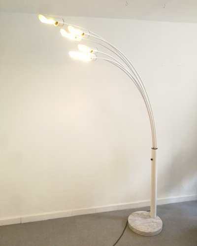 Italian floor lamp with marble base, 1960s