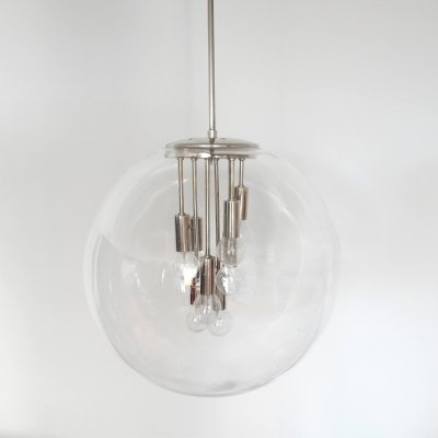 Space Age 'Sputnik' glass globe pendant lamp, 1960's/1970's