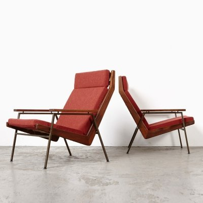 Rob Parry Pair of Lotus Lounge Chairs for Gelderland, 1950s