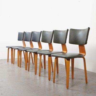 Cor Alons set of 6 Dining Chairs for De Boer, 1949